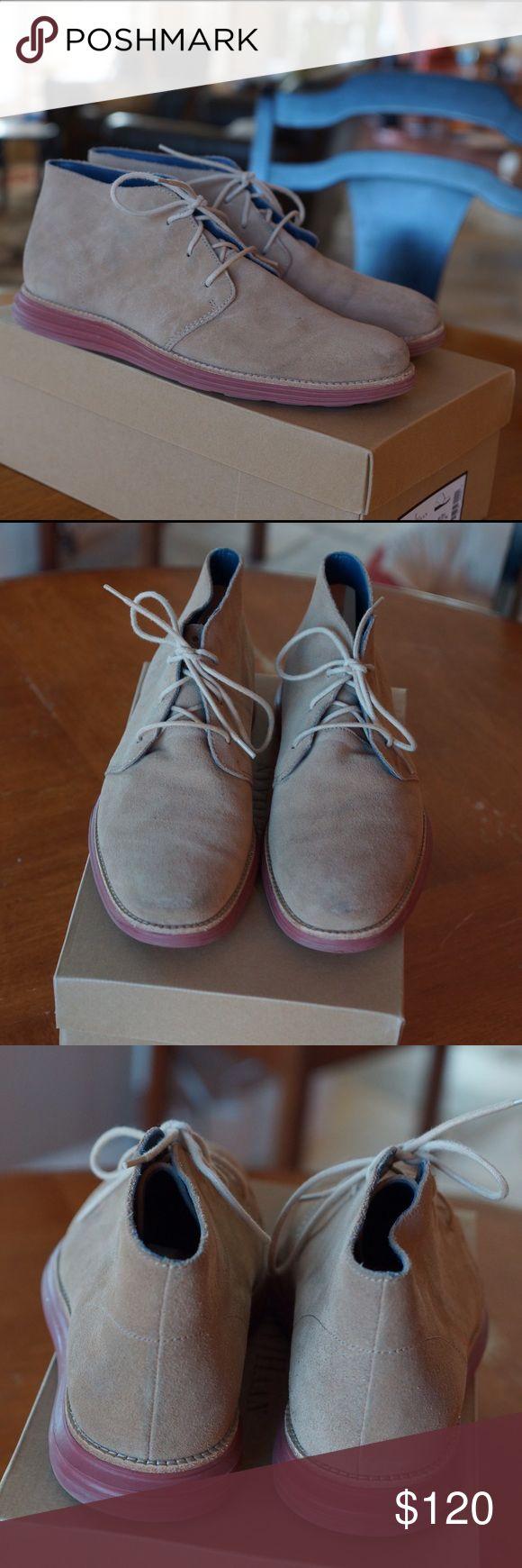 Cole Haan men's Lunargrand Chukka boots. Sz 10.5. Men's Cole Haan Lunargrand Chukka boots. Lightly worn. Milkshake color.  Stored in original box with shoe trees. Non smoking home. Originally $280 USD. Cole Haan Shoes Chukka Boots