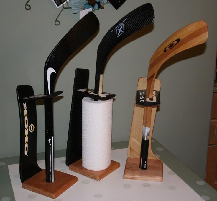 Hockey Stick Paper Towel Holders