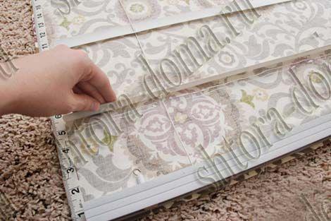 Как сделать римские шторы на основе  жалюзи | Шторы для Дома