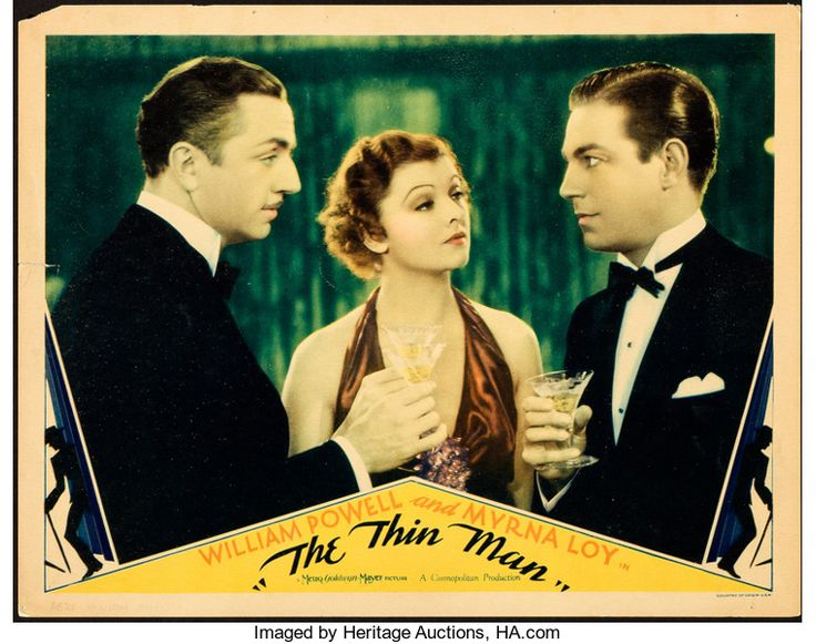 """Movie Posters:Mystery, The Thin Man (MGM, 1934). Lobby Card (11"""" X 14"""").. ..."""