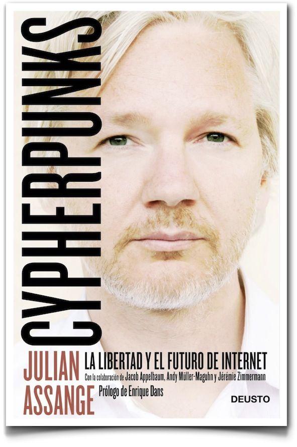 20130502 Libro denuncia de Julian Assange sobre la pérdida de privacidad y libertad que los sistemas de vigilancia de la Red, le están suponiendo al individuo. Crítico y pesimista, presenta un panorama desalentador. Está escrito con forma de diálogo entre 5 personas y no siempre resulta fácil de leer. Imprescindible para las personas con inquietudes en privacidad, tecnología y redes sociales.