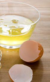 Clara de huevo, alimento preteneciente a la categoría de los huevos