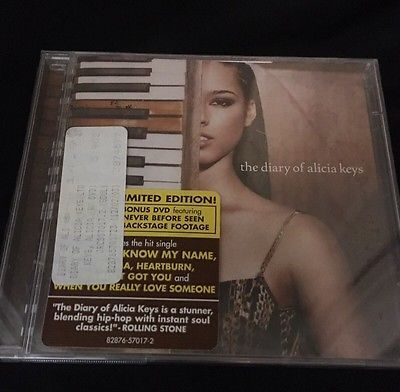 THE DIARY OF ALICIA KEYS -MINT CD & BONUS DVD THE DIARY 828765701723 | eBay