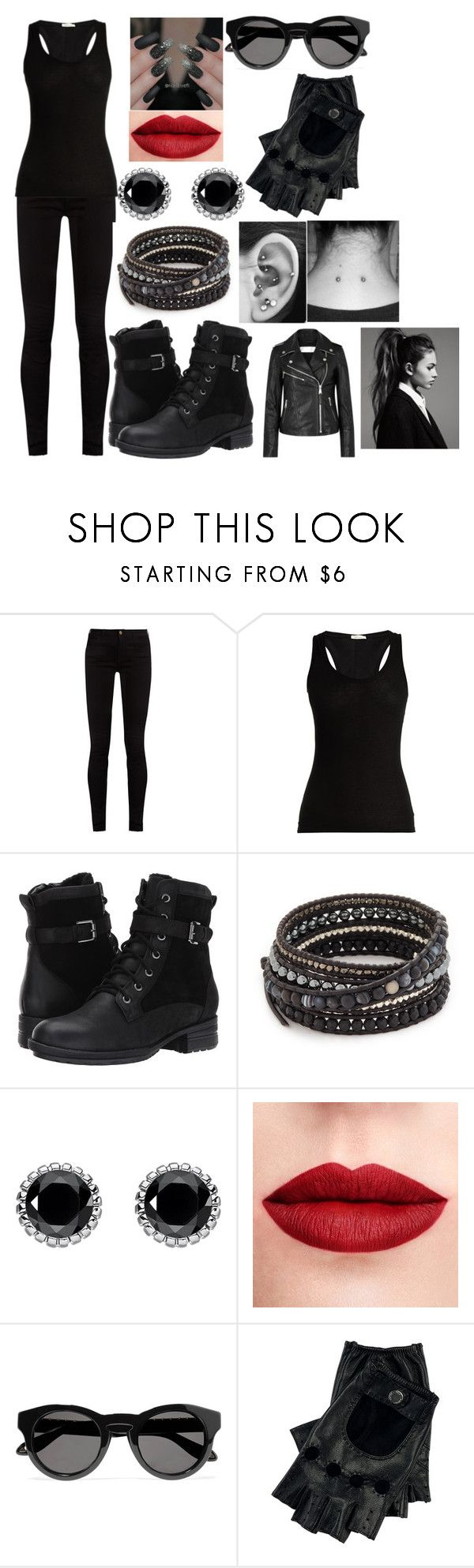 """""""The Divergent: Dauntless"""" by kiara-fleming ❤ liked on Polyvore featuring Gucci, Skin, Blondo, Chan Luu, Thomas Sabo, Givenchy and Victoria, Victoria Beckham"""