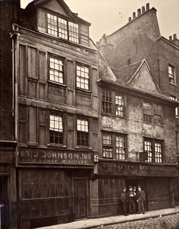 View of houses in Drury Lane, Westminster, London, 1876 Including the premises of J Johnson, Coal and Coke Merchant