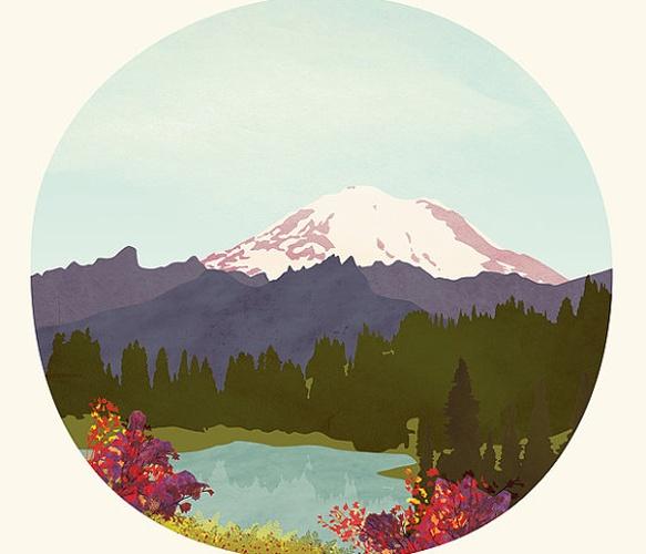 Mountain Lake: Paintings Art, Mountain Lakes, Art Paintings, Mount Rainier, Paintings By Numbers, Lakes Prints, Art Prints, Scenic View, Mountain Art