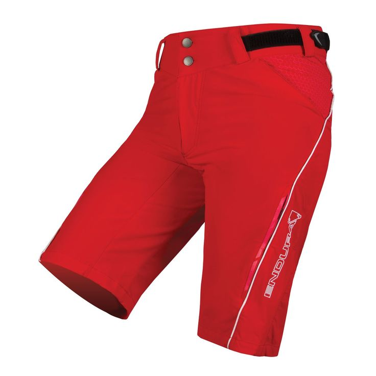 Endura Womens SingleTrack Lite Baggy Cycling Short Red, Small. 4 way stretch fabric perfect for nailing technical climbs and hammering descents. High stretch rear panel for enhanced fit. Durable seat panel and Clickfast® liner compatible. Side waistband adjustment; Zippered front fly; Zipped thigh vents for increased ventilation. Zipped hand pockets; Zipped rear media pocket.