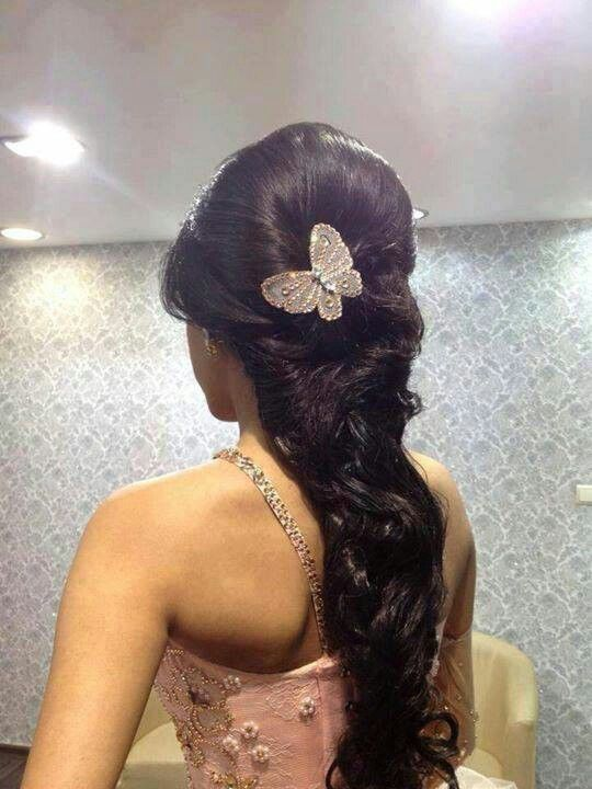 hairstyles for tea party : cute sweet 15 or 16 hair style Quince dresses Pinterest Sweet 15 ...