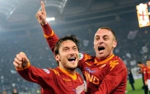 Roma's Captain and Vice-Captain, Francisco Totti & Danielle DeRossi