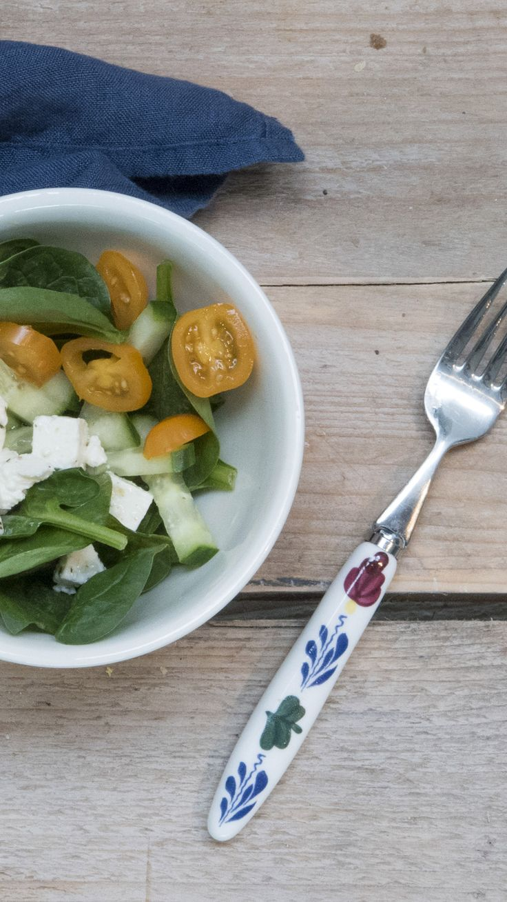 De vork van Boerenbont maakt deze luchtige salade als tussendoortje een feest!