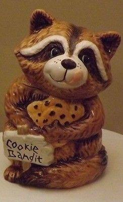 Raccoon Cookie Bandit Cookie Jar