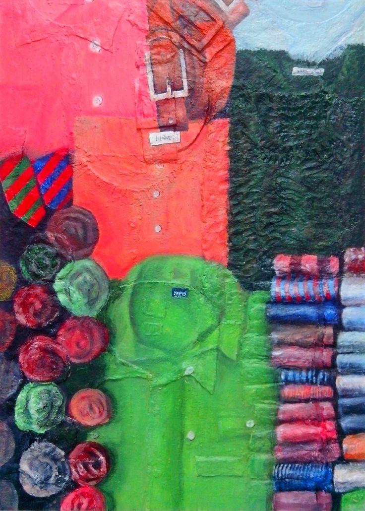 Cloth 3D Structure, acryl on board (relief), 50 x 70 cm, 2015. Making-of: https://youtu.be/L9d650FwvI4 All pictures: http://atelier-jhw.de/ #art #artist #painting #Kunst #Künstler #Malerei #Westermann