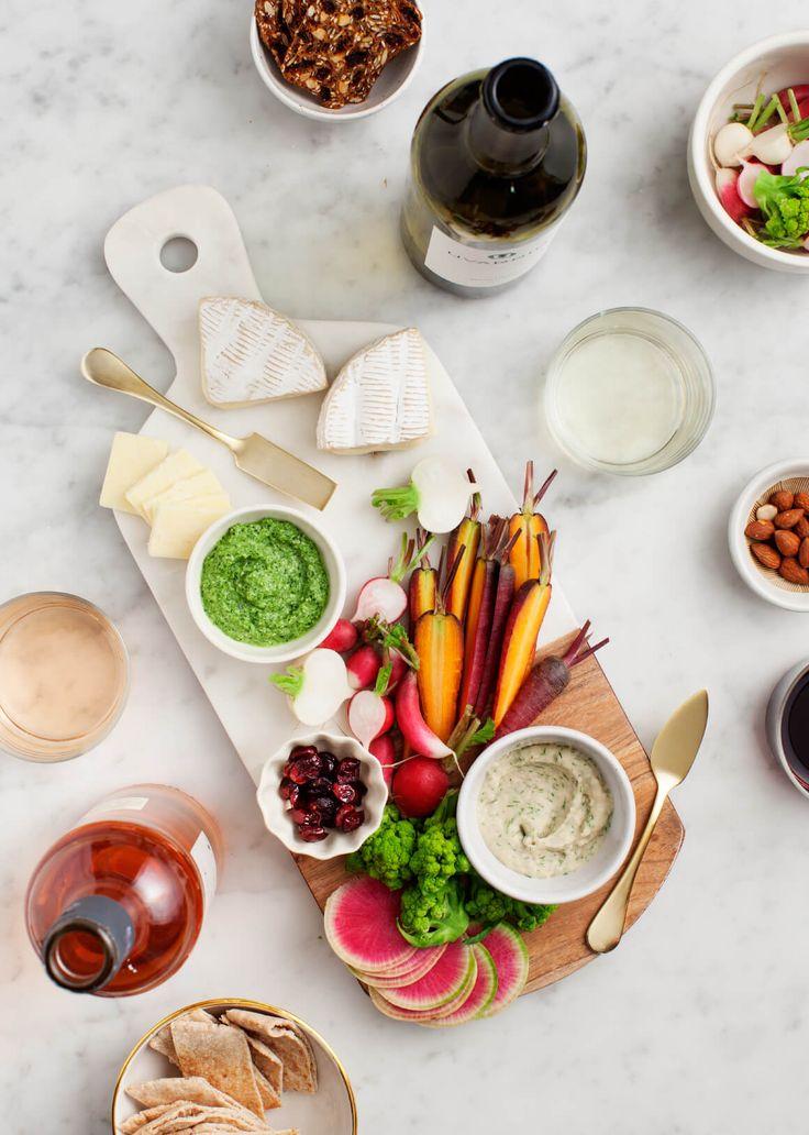 The Prettiest Spring Veggie Party Platter