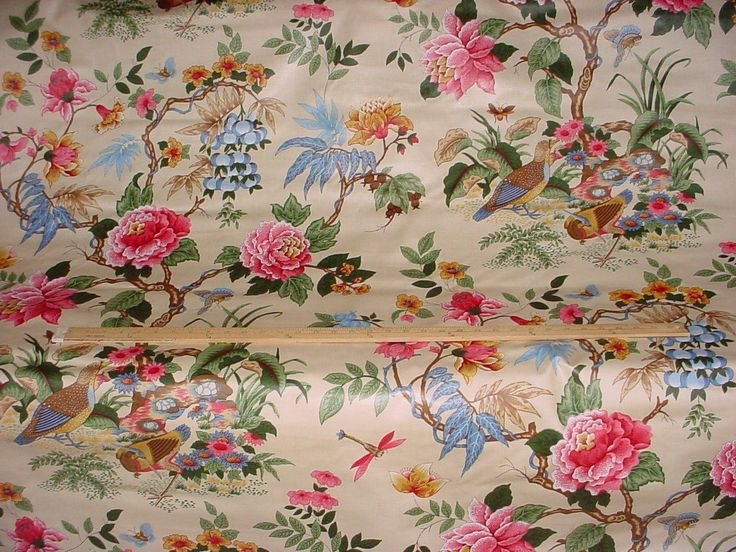 5-1/2 yards F Schumacher #75020 Anshun in Paprika and Blue - Asian Style Cotton Chintz Print Upholstery Drapery Fabric - Free Shipping by lifeinweave on Etsy https://www.etsy.com/listing/265807176/5-12-yards-f-schumacher-75020-anshun-in