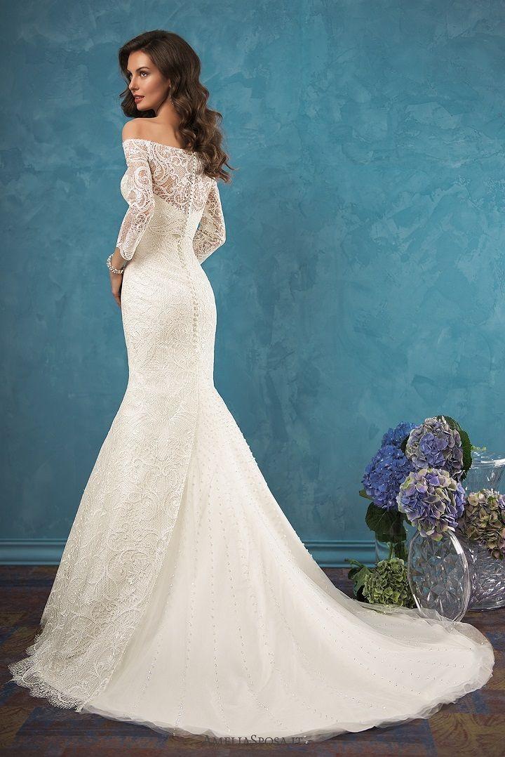 Mermaid wedding dresses with sleeves | itakeyou.co.uk #wedding #weddingdresses '#weddingdress #bridalgown #weddinggown #weddings #mermaidgown #mermaidweddingdress