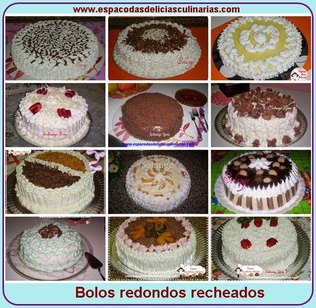 Alguns bolos redondos recheados, postagem atendendo a pedidos - Espaço das delícias culinárias