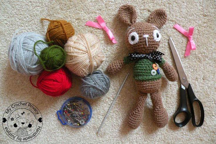 My Crochet Privacy ...: Wzór szydełkowy na Króliczka Chippera / Chipper the Bunny crochet pattern