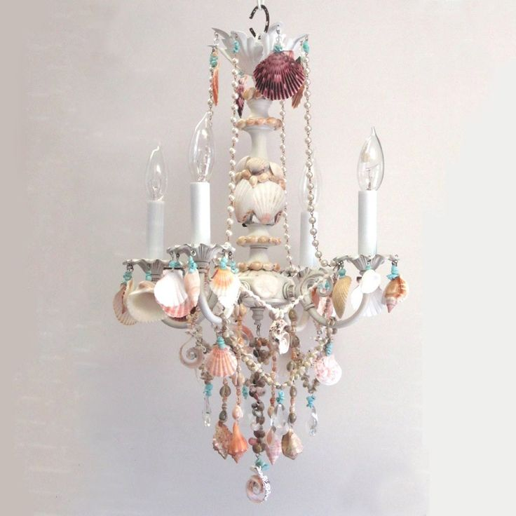 Your Ariel Four Arm Sea Shell Chandelier Here Light Up Child S Room With This Line Of Ever So Shabby Chic Lampart Sweet Children Chandeliers