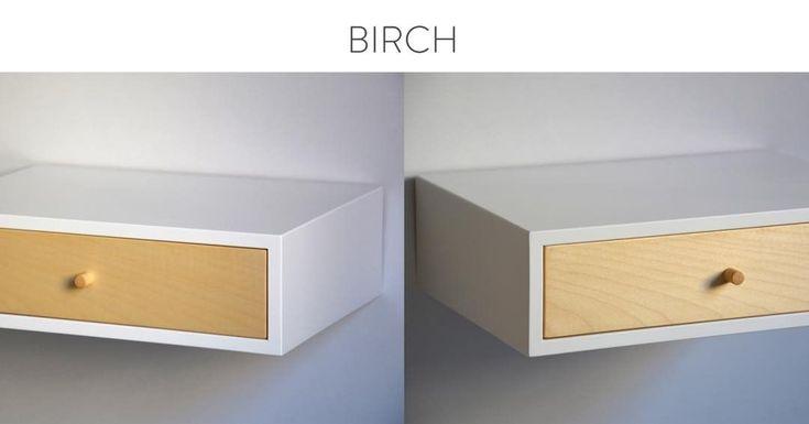 """8 kedvelés, 2 hozzászólás – MyBetterShelf (@mybettershelf) Instagram-hozzászólása: """"Simplicity of birch on our floating drawer www.mybettershelf.com #floating #nightstand #bedside…"""""""