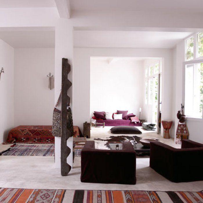 Un salon exotique esprit nomade