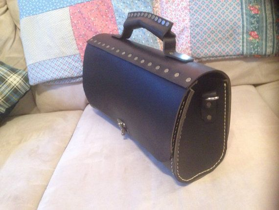 Leather tool Tote by Marcshandycraft on Etsy