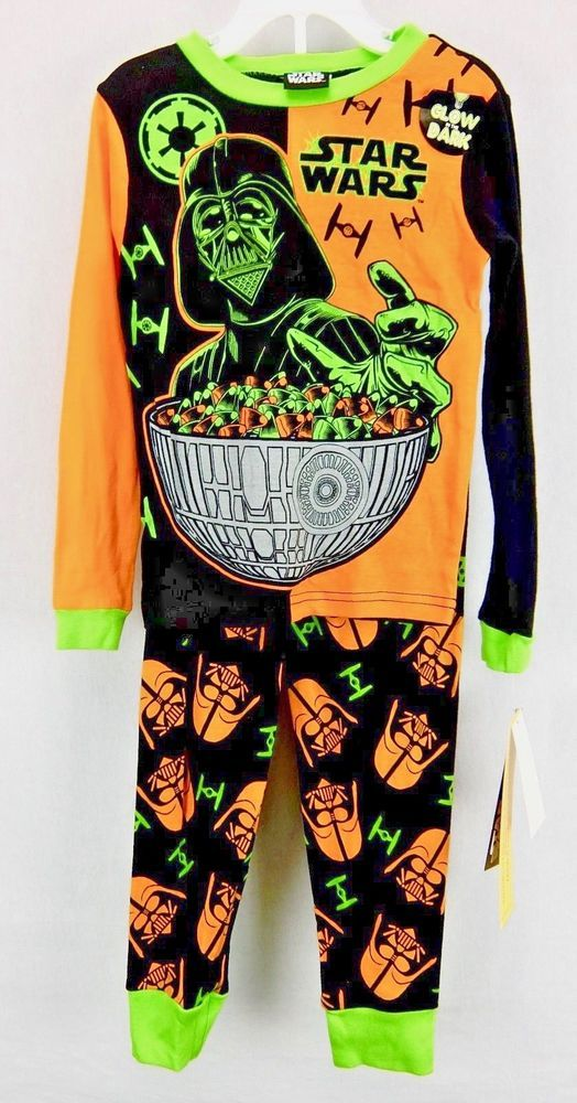 Star Wars Glow in the Dark Boys Halloween Pajama Set Darth Vader Size 4 6 8  10  StarWars  PajamaSets 5ff700516