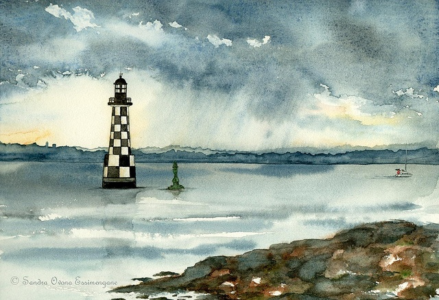 Le phare des Perdrix - Loctudy by Love, Light and Colors!, via Flickr