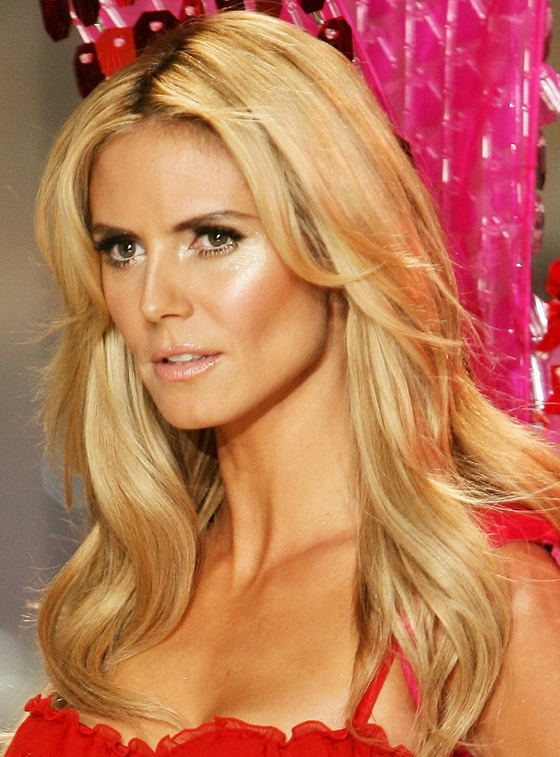 Heidi Klum- gorgeous hair and makeup.