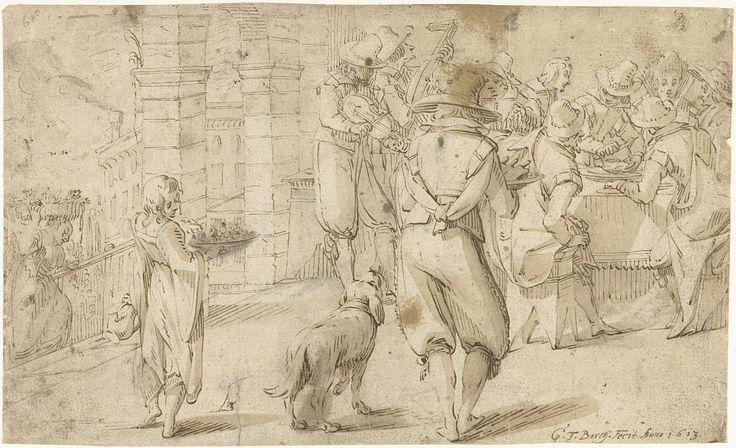 Gerard ter Borch (I) | Gezelschap bij een banket op een Italiaans terras, Gerard ter Borch (I), 1613 |