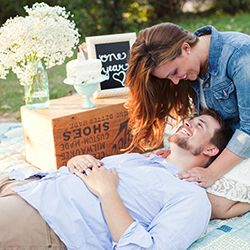 A couple celebrates their first anniversary with an adorable photo shoot at Camp Wandawega, captured by Ashley Biess Photography.