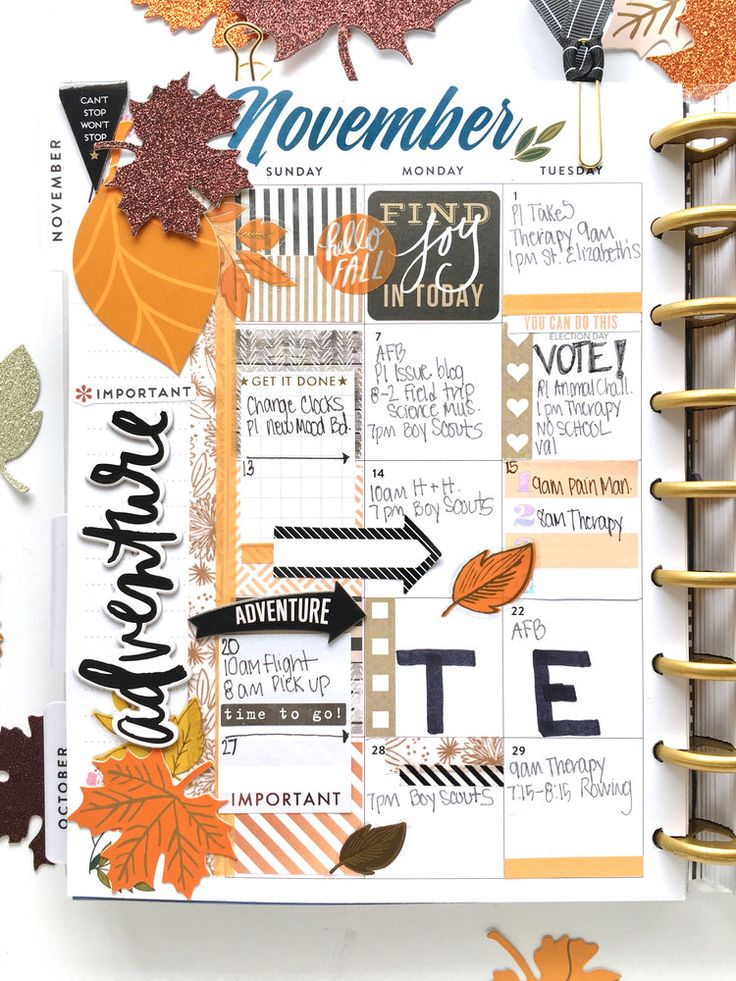 November monthly layout in the 'Botanical Garden' Happy Planner™ of mambi Design Team member Mary-Ann Maldonado | me & my BIG ideas