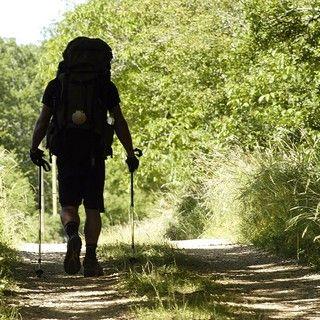 Pilgrim on his way to Santiago