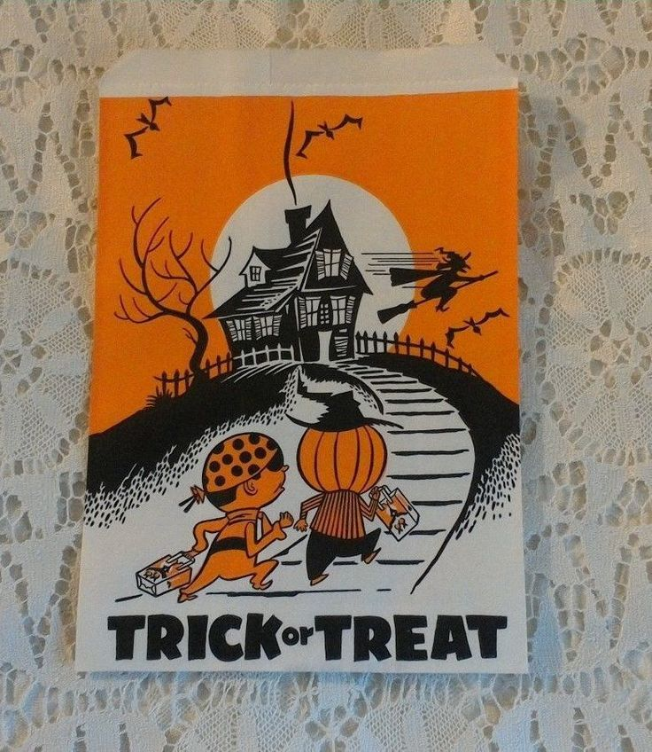 VINTAGE HALLOWEEN TRICK OR TREAT CANDY BAG UNION CAMP