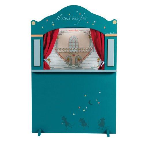 Grand théâtre de marionnettes bleu Il était une fois Moulin Roty