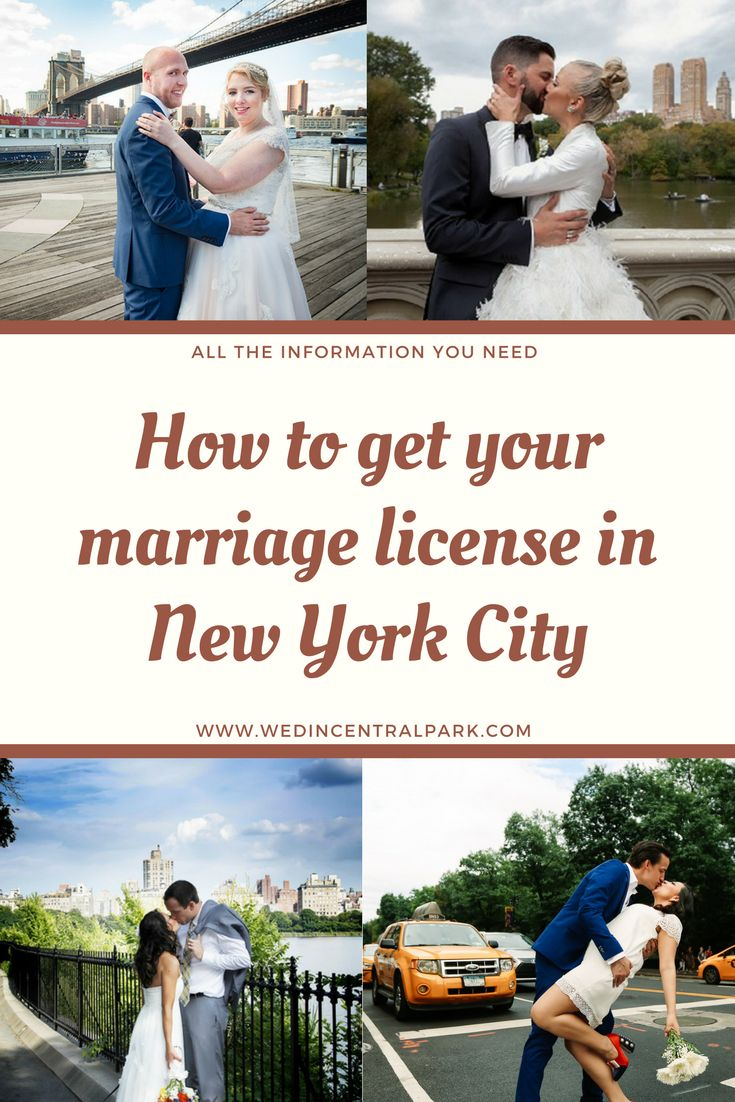 how to get your marriage license in new york city