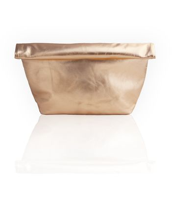 Del Mar Roll Up Clutch  - Rose Gold
