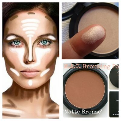 Shows where to put your bronzer and highlighter. ( matt ColorS Without shimmer ) !!!