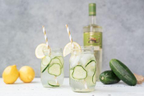 Pretty in Pistachio | Cucumber Cooler Recipe Featuring Zubrowka | Pretty in Pistachio