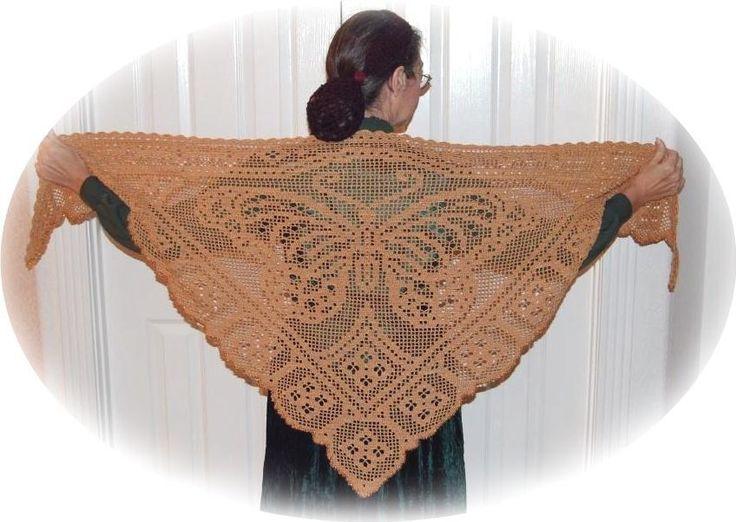 crochet thread shawl patterns | Viceroy Butterfly Shawl by CrochetNBeads | Crocheting Pattern I want the pattern .....gh