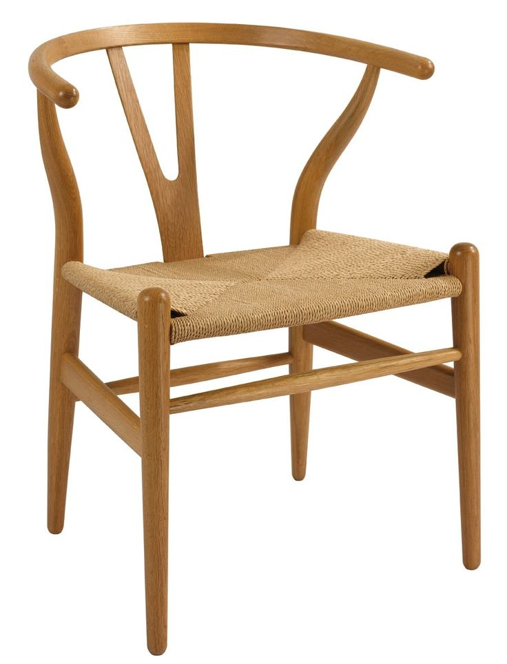 Inspired by traditional Ming chairs, Hans Wegner designed his Wishbone Chair or Y Chair in 1950 and is a classic piece of Danish mid-century furniture design. Through traditional manufacturing methods, the steam bent back and arm rail achieves the profile of poultry wishbones, whilst the tapered legs and natural paper cord are additional features on the Wishbone chair. The backrest is made from one solid piece of wood and is steam molded to create trademark curve.