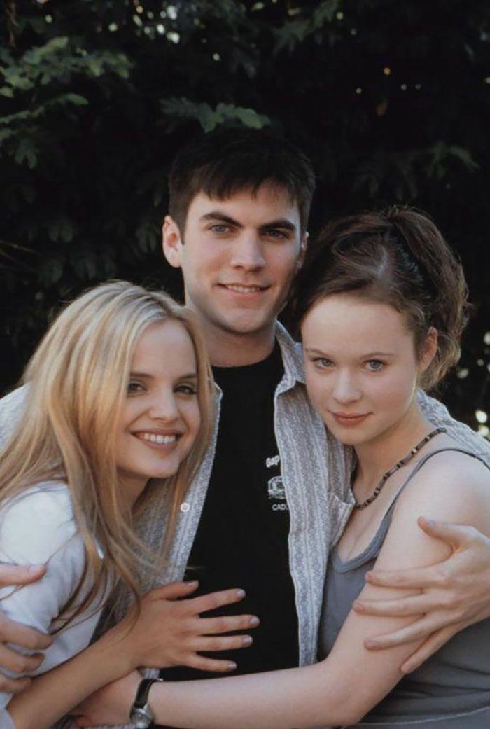 """Mena Suvari, Wes Bentley y Thora Birch para """"American Beauty"""", 1999"""