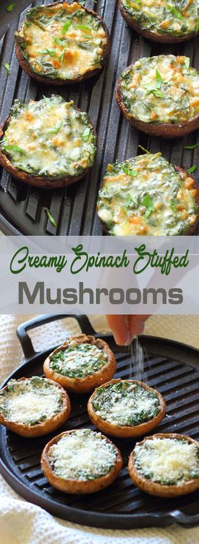 Creamy Spinach Stuffed Mushrooms                                                                                                                                                                                 More