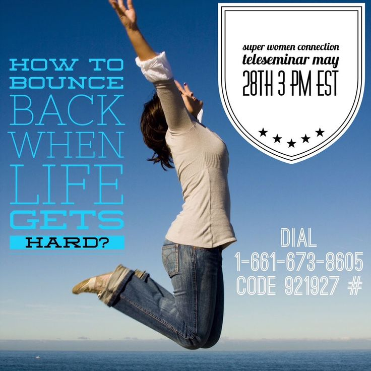 Ladies are you finding it hard to deal with setback, having hard times?  Just in case ....  It's time for a boost on todays ‪‎Super Women Connection‬ Daily Teleseminar!  I am excited for the call!!