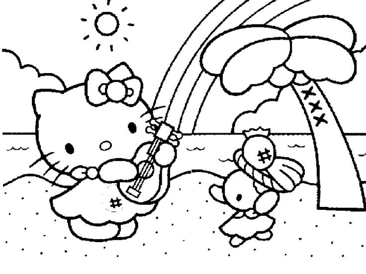 hello kitty colouring pages for kids printable Hello Kitty Coloring Pages For Kids