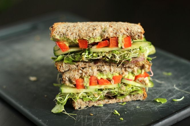 The ultimate veggie sandwich. This looks so delicious!