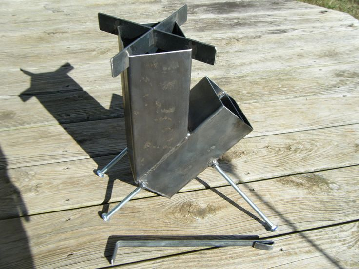 Rocket Stove Gravity Feed Self Feed camping prepper survival bushcraft scouts #KSO