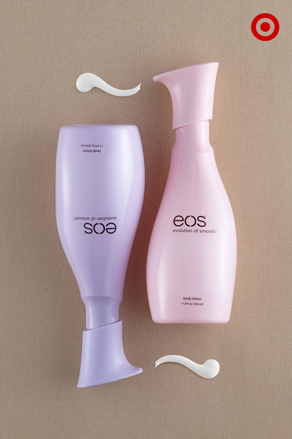 Ultra-soothing, 96%-natural eos lotion has your skin covered from summer to fall, no matter what twists and turns the change in seasons may bring. Find it in full-sized bottles in fresh berry blossom or delicate petals fragrances, only at Target.