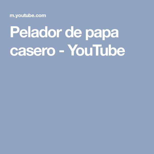 Pelador de papa casero - YouTube