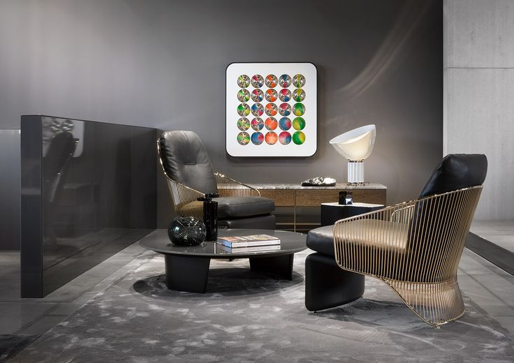 Colette armchair and bergére, Song coffee table, Rodolfo Dordoni design.