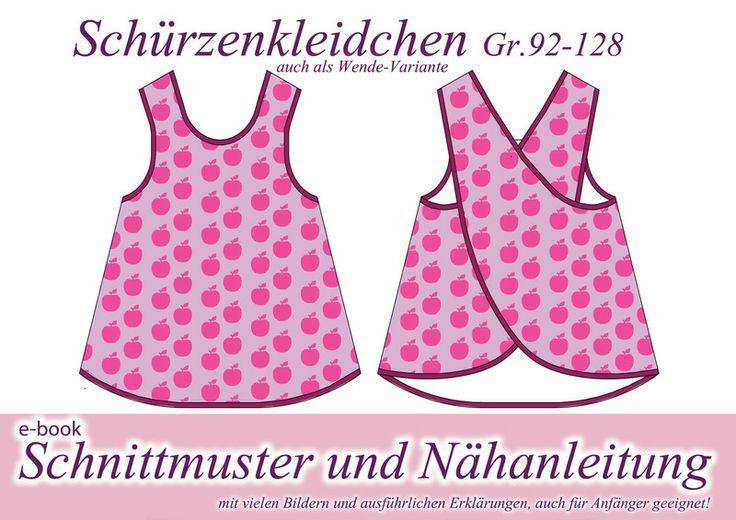 Nähanleitung / Schnittmuster Schürzenkleid Klei... von selbermacher auf DaWanda.com